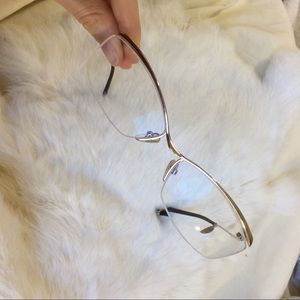 Vintage Accessories - Golden Clear Glasses frames